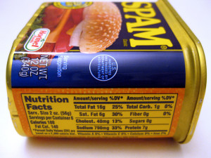 label joelogon-spam-nutrition-facts