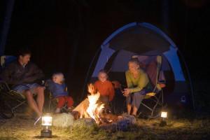 outside Camping Family