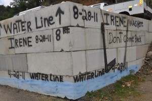 Emergency Waterline wall