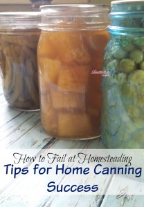 Canning, Increasing Self Sufficiency