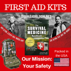 podcasts, videos, supplies, medical kits, articles, books