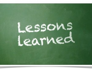 Lessons learned chalk board