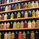 Food storage home canned wall